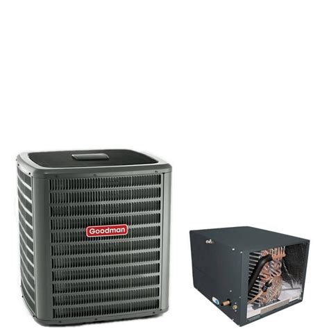 air conditioner capacitor goodman 1 5 ton goodman 14 seer r410a air conditioner condenser with 14 quot horizontal cased