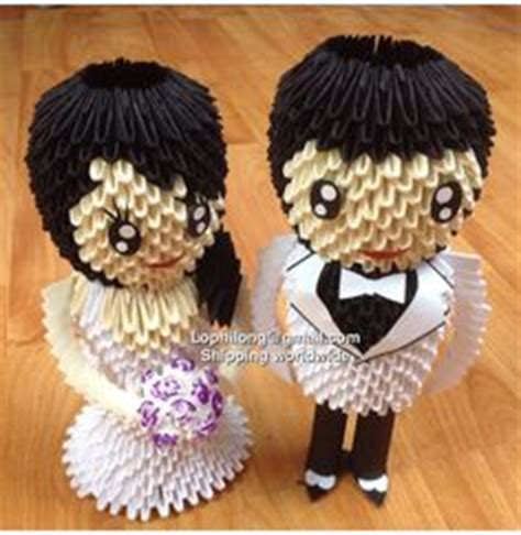 3d Origami And Groom - groom and white back wedding decoration 3d