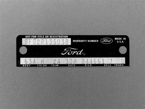 mustang serial number decoder ford mustang vin number mistake in search of mustangs