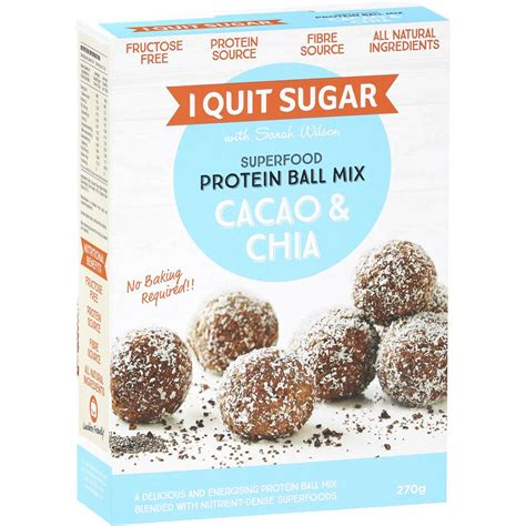 i quit sugar superfood protein ball mix cacao chia 270g