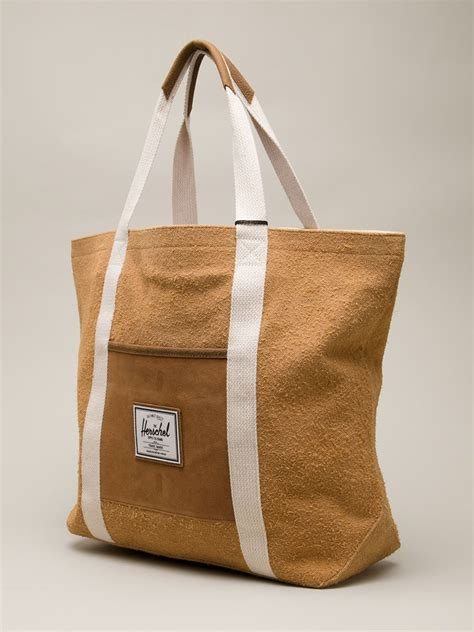 Tote Bag Tote Alexandra Brown herschel supply co tote in brown lyst