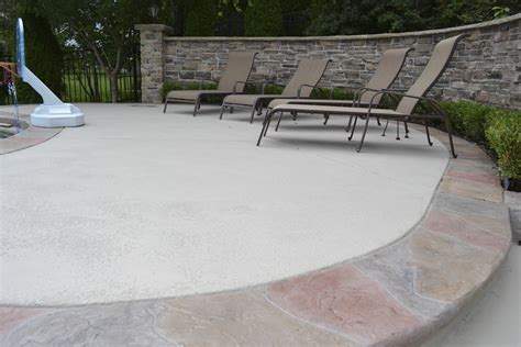 patio concrete ideas home decor resurfacing concrete patios ideas