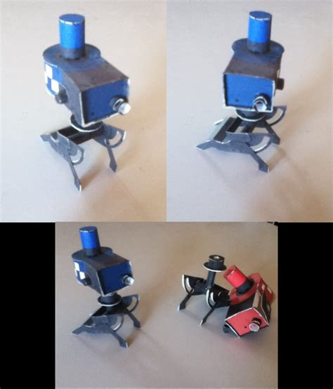 Mechanical Papercraft - tf2 sentry by heyro0 on deviantart