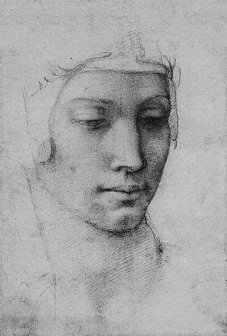 Head of a Woman, Michelangelo Buonarroti   Arte