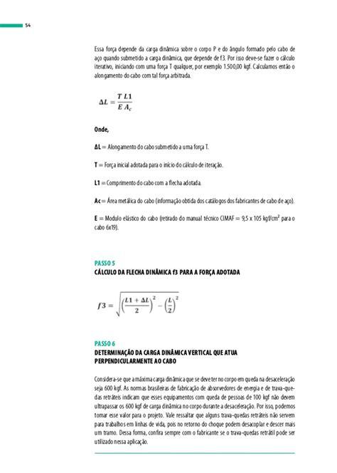 Guia prático para cálculo de linha de vida e restrição