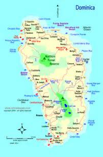 dominica on world map caribbean dominica map