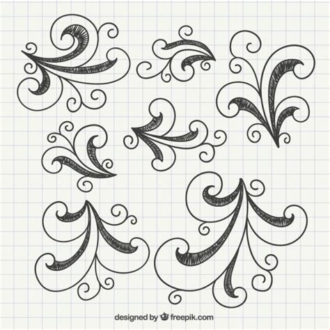 how to edit doodle sketchy doodle swirls vector free