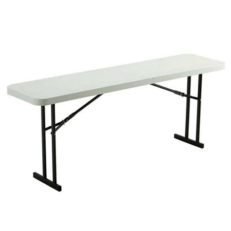 Lifetime 6ft Folding Table Lifetime 6 Ft Folding Seminar And Conference White Table 80176 The Home Depot