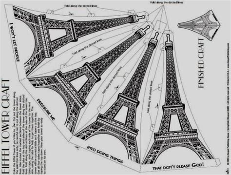 eiffel tower model template papermau build your own easy to build eiffel tower paper