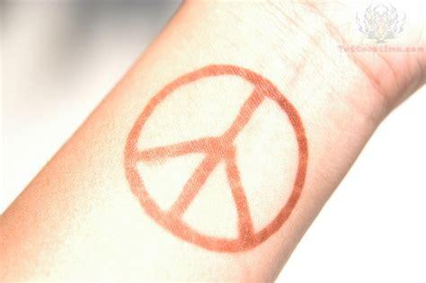 peace sign tattoo wrist peace sign ring