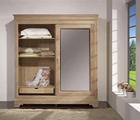 armoire chene blanchi armoire 2 portes en ch 234 ne massif de style louis philippe