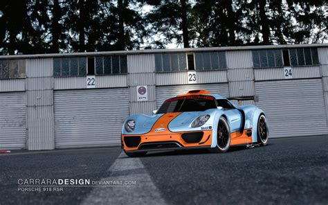 gulf porsche wallpaper porsche 918 rsr gulf livery by carraradesign on deviantart