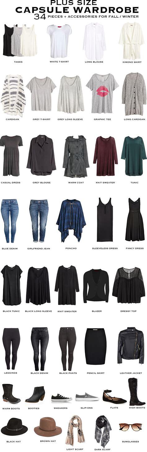 Capsule Wardrobe Plus Size by Plus Size Capsule Wardrobe For Fall Winter Livelovesara