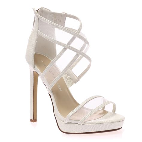 white stiletto high heels womens white mesh ankle peep toe high heel