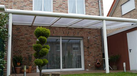Terrassenueberdachung Alu by Terrassen 252 Berdachung Alu Mit Polycarbonatplatten 5m Breit
