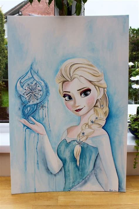 items similar to original large elsa frozen painting 20 x 30 inches disney