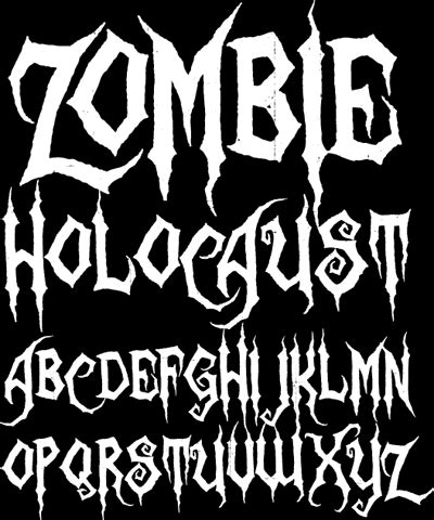 font design horror sinister fonts chad savage s free original horror scary