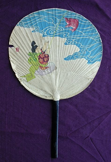 How To Make A Japanese Paper Fan - vintage japanese paper fan circa 1930 antique goodies