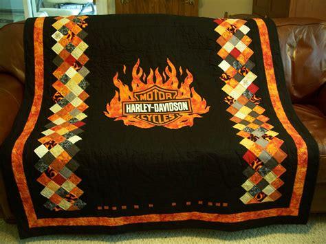 Harley Davidson Quilts For Sale by Harley Davidson Quilt Finally Finished Sept 2013