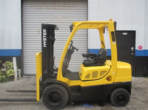 hyster hft lbs lpg forklift  side shift solid pneumatic tires