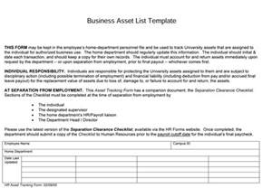 Personal Asset List Template by 5 Plus Asset List Templates For Word Excel 174 And Pdf