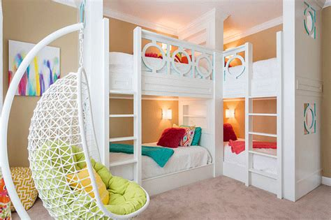 22 Cool Designs Of Bunk Beds For Four Home Design Lover 4 Bed Bunk Beds