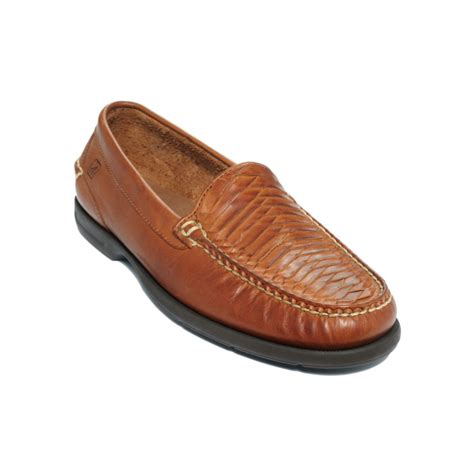 top sider loafers sperry top sider tremont woven moc toe loafers in brown
