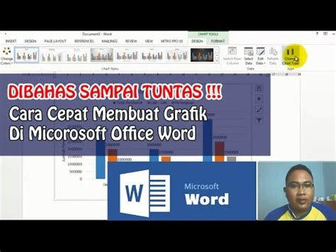 cara membuat halaman di word youtube cara cepat membuat grafik di micorosoft office word youtube