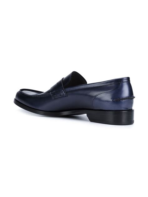 lanvin loafers lyst lanvin classic loafers in blue for