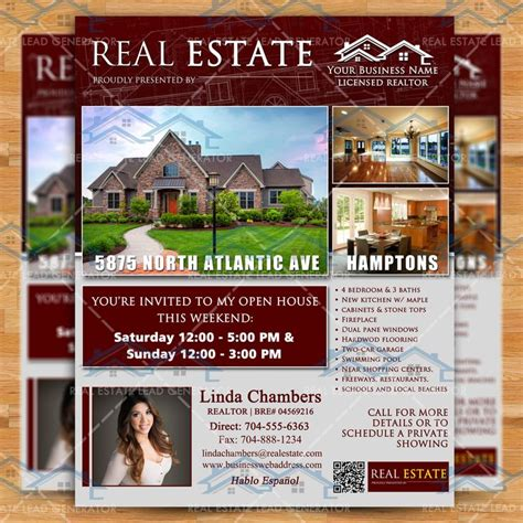 real estate advertising templates 17 best images about open house flyer ideas on