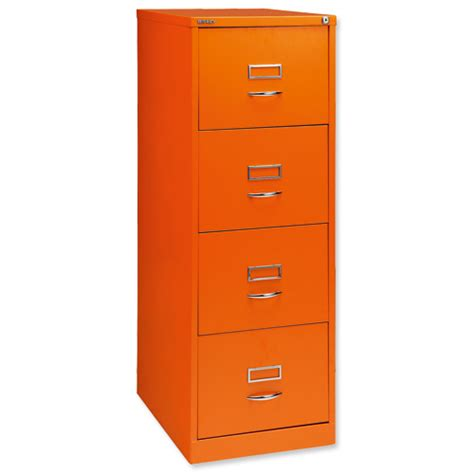 Orange Filing Cabinet Glo By Bisley Bs4c Filing Cabinet 4 Drawer H1321mm Orange Ref Bs4c Orange Bs4c Orange