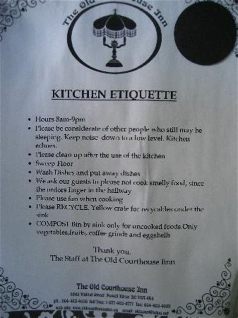 notice to clean kitchen just b cause