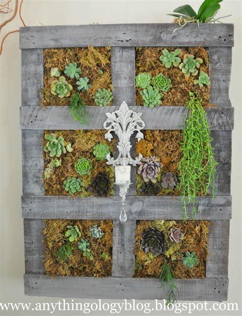 Vertical Succulent Garden Pallet Anythingology Vertical Gardening The Experiment
