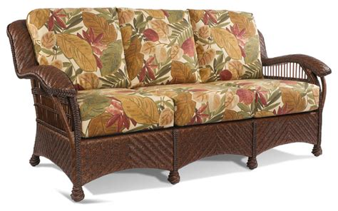 Shop Sunset Trading Antique casablanca wicker rattan sofa tropical furniture new