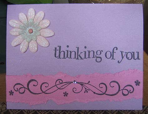 Handmade Thinking Of You Cards - thinking of you handmade card flickr photo