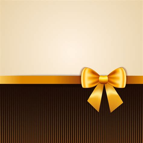 ribbon background gold ribbon bow background vector graphics my free