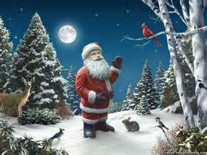 Awesome pictures of santa claus violet fashion art