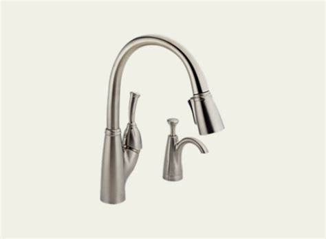allora kitchen faucet delta allora single handle pull down kitchen faucet with