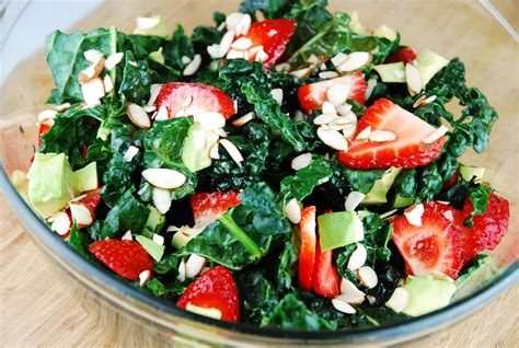 salad recipes kale salad with avocado and apple