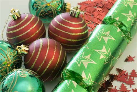 photo of green and red decoration free christmas images