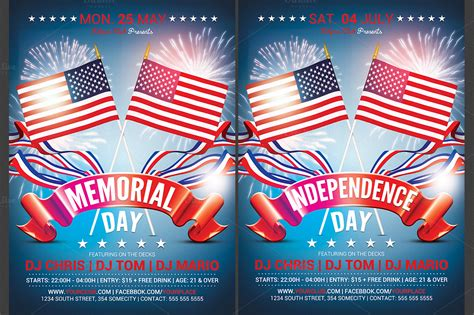 independence day flyer memorial independence day flyer flyer templates on