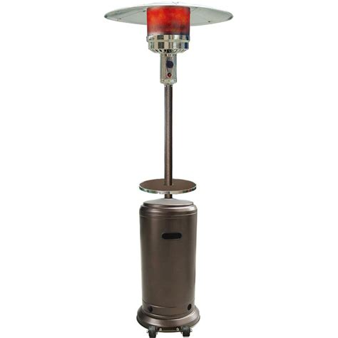 Lp Patio Heater Sense 40 000 Btu Stainless Steel Pyramid Propane Gas Patio Heater 60523 The Home Depot
