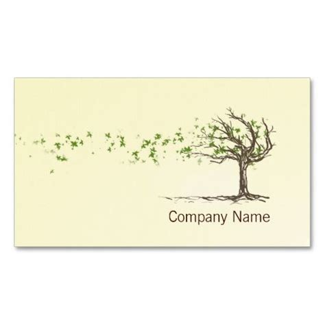 Tree Place Card Template by Zen Wind Tree With Leaves Business Card Template Card