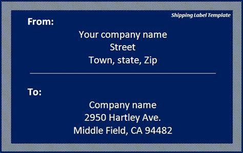 shipping label template images