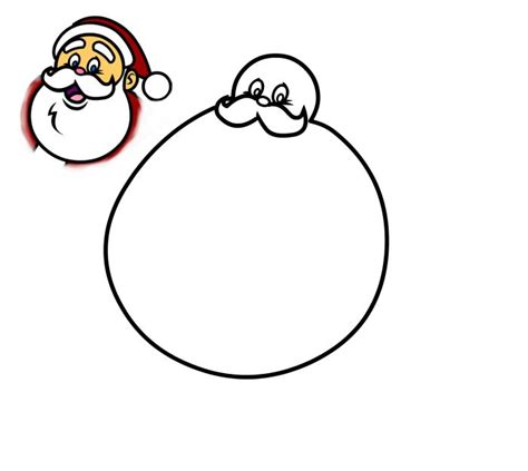 a mustache is a hard thing to draw with a mouse in how to draw a jolly santa claus cartoon