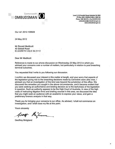 Cover Letter Unknown Recipient Quotagate And Breachgate The Howard Government S Confidential And Irrelevant Welfare