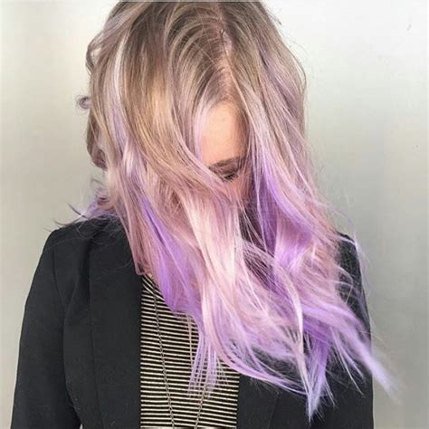 purple highlights in platinum blonde hair 55 lustrous purple hair color ideas feel like a queen