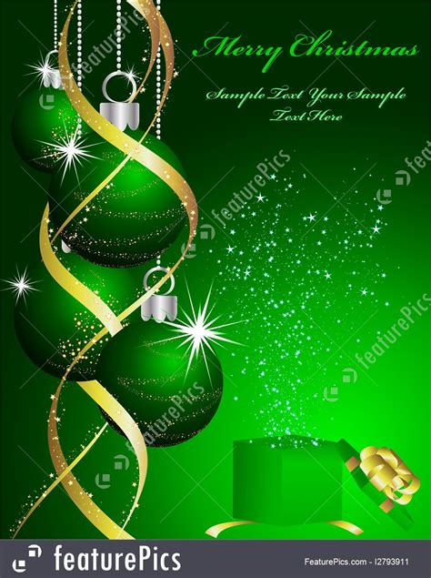 holidays green christmas background stock illustration