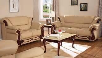 Beige Living Room Sets Beige Color Leather Sofa Loveseat Living Room Set
