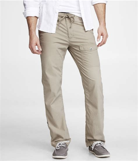 Cotton Pant express khaki cotton drawstring pant in khaki for